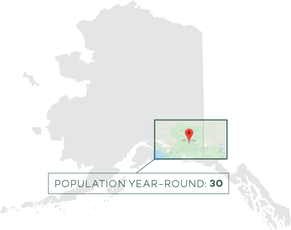 Alaska state outline with inset map