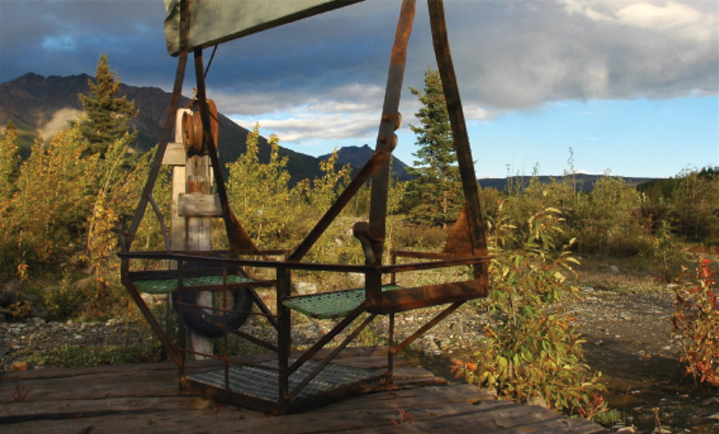 Historical equipment at Kennicott Mine