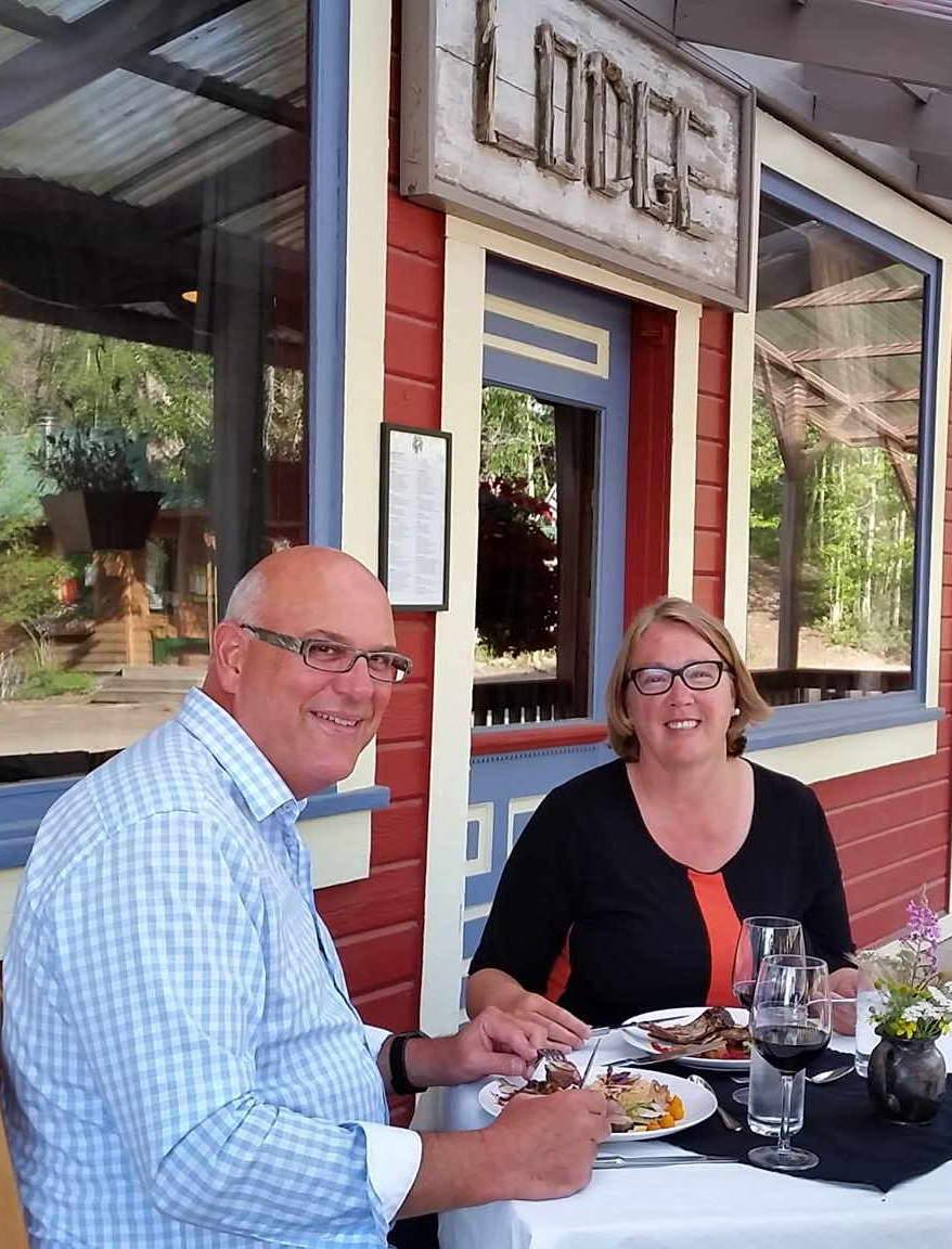People dining at Salmon & Bear Restaurant